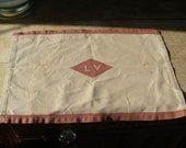 Lehigh Valley Railroad Cloth Headrest Napkin Dining Car Placemat Hand Towel Train Railroadiana Collectible