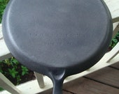 Wagner Ware Cast Iron 11-1 4 quot Inch Skillet Griddle With Handle Cleaned Restored