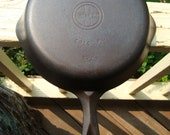 Vintage Griswold Cast Iron Hinged Skillet Frying Pan Small Block Logo Erie PA NO 6 Double Pour Spouts Griswold Iron Spoon Iron Pan 6 2506