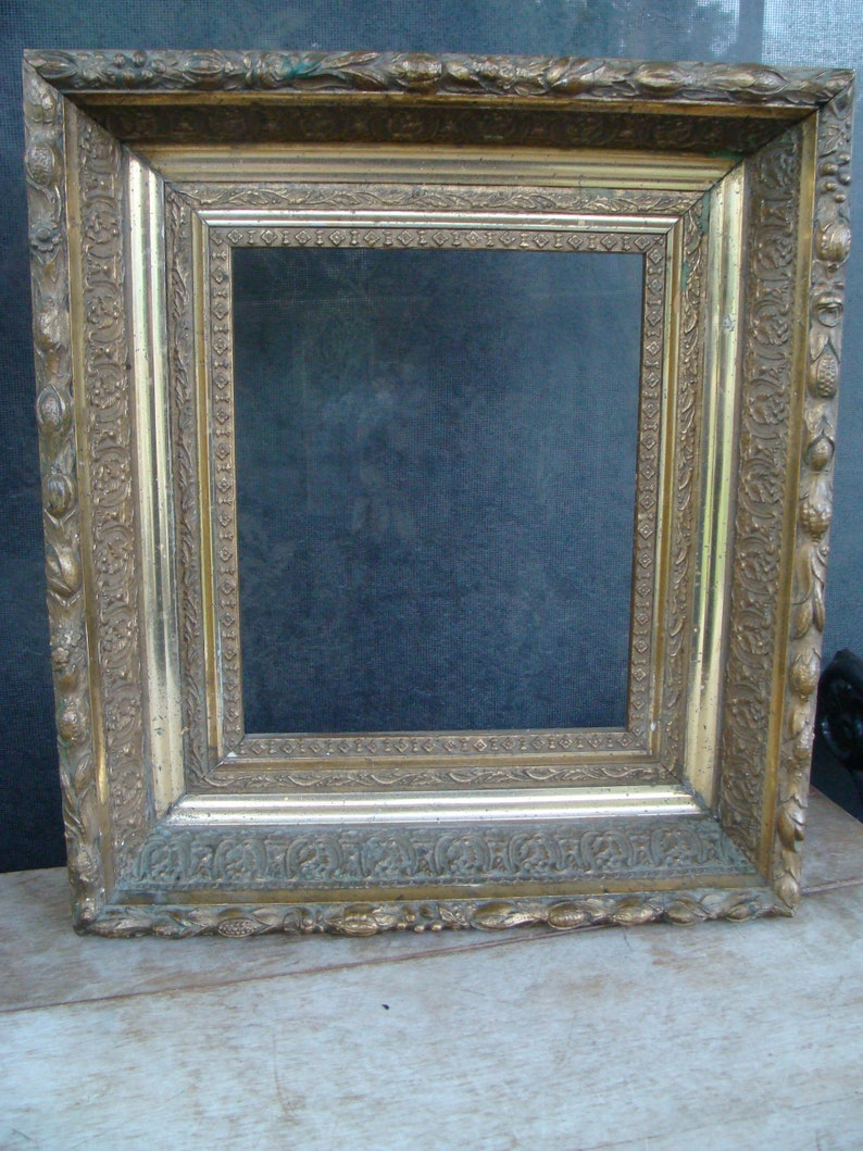 355fdbbb10d Antique Gold Gilded Wood Gesso Picture Frame For Oil Painting