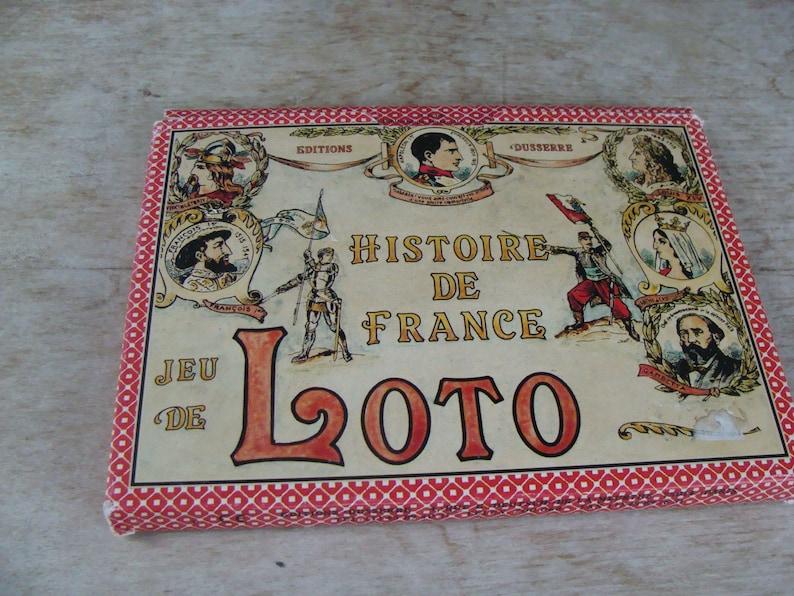 History Of France Loto Card Game Histoire De France Jeu De Editions Dusserre