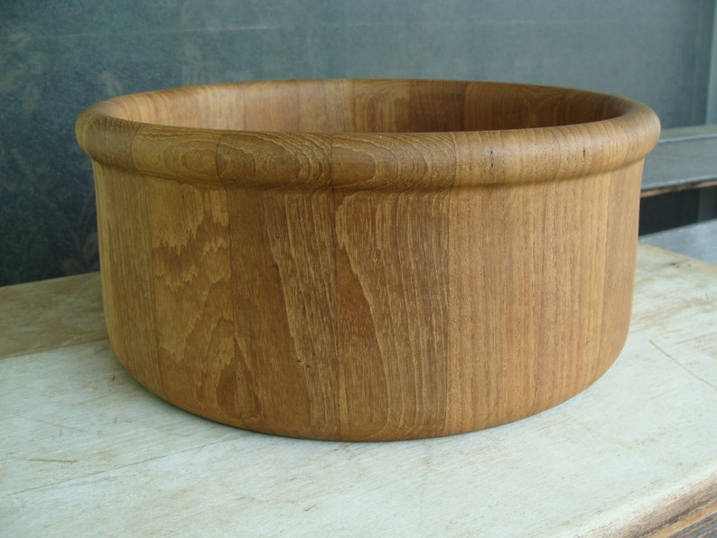 Vintage Hand Turned Wooden Bowl Without Return Woodenware Decorative Arts