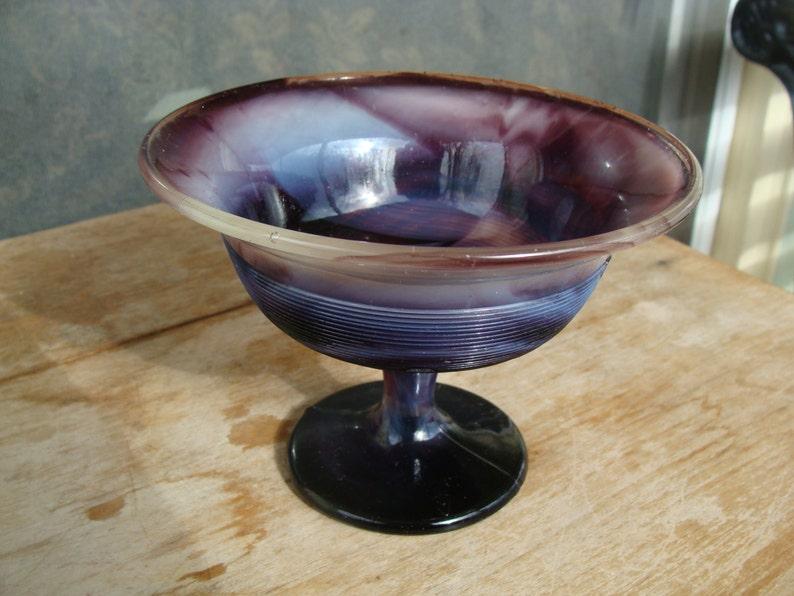 Purple Amethyst Glass Antique Dish Decorative Arts