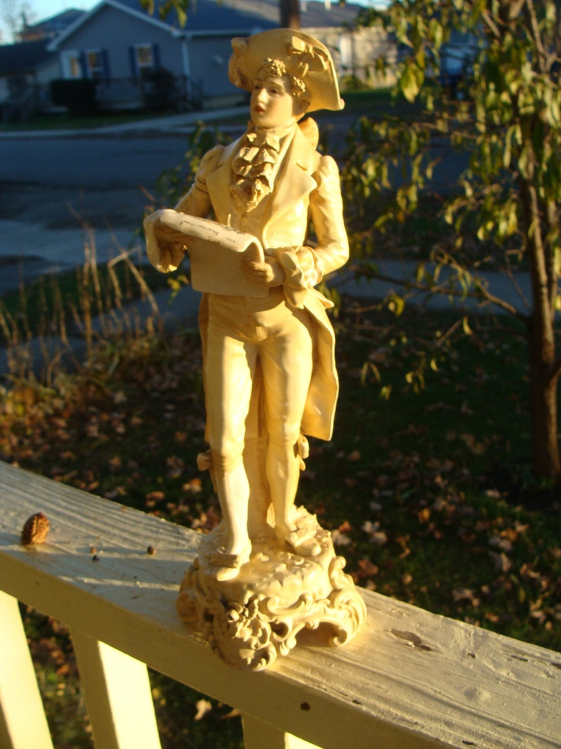 "New Large 25/"" Hand Blown Art Glass Swirl Sculpture Figurine Statue Brown"