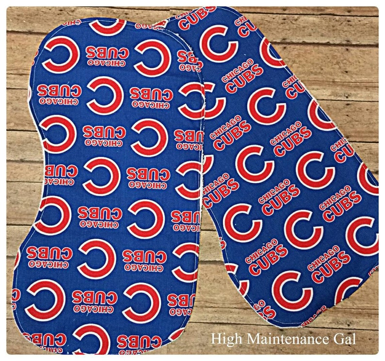Chicago Cubs contoured burp clothes, Infant burpies, Unisex burp cloth,  Expecting announcement gift, Expecting dad gift, Babyshower gift