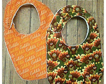 Bibs, Thanksgiving baby bib set,  Gender Neutral, Babyshower gift, Father gift, Daddy to be gift, Expecting announcement gift
