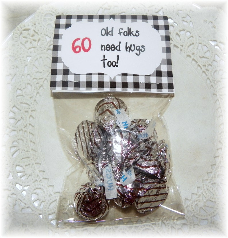60th Birthday Printable Bag Topperpartyfavor DIY