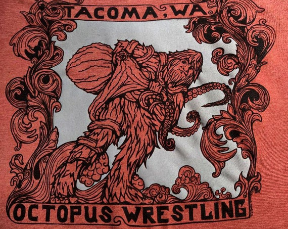 Tacoma Octopus Wrestling Tee
