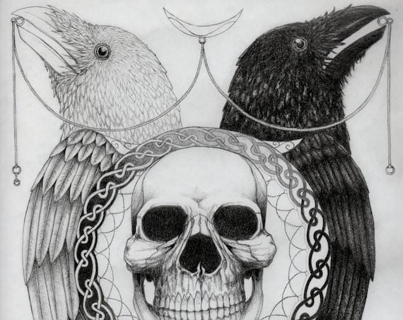 Black and White Print.