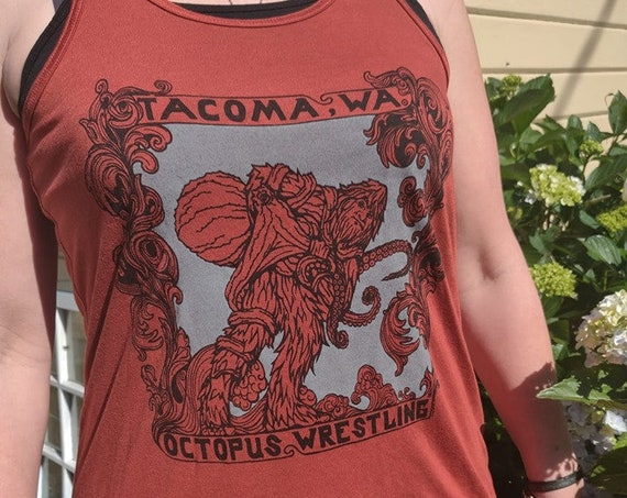 Octopus Wrestling Ladies Tank top