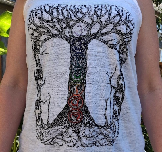 The Chakra Tree of Life Ladies Tank Top