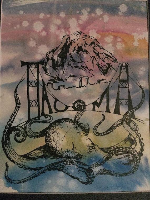 Tacoma Octopus Screen Print