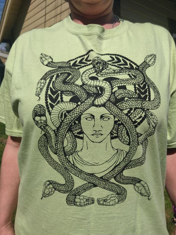 Medusa in Green T Shirt