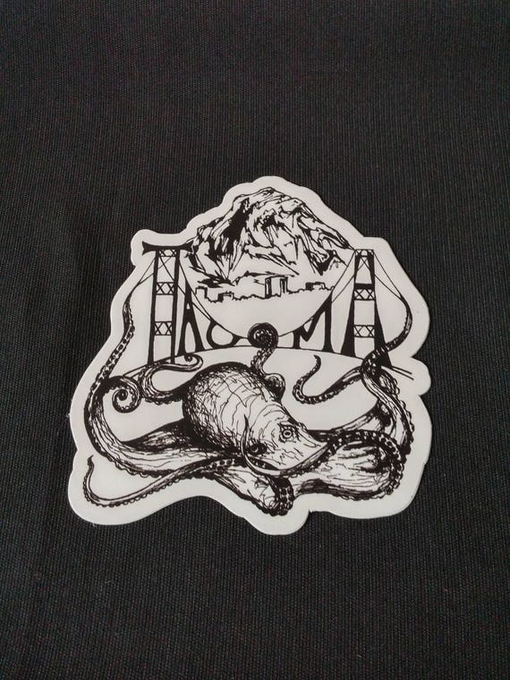 Tacoma Octopus Vinyl Decal