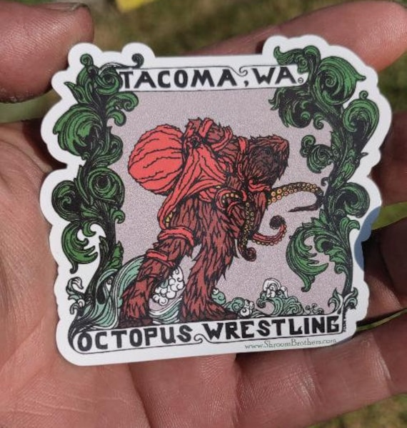 Tacoma Octopus Wrestling Vinyl Sticker