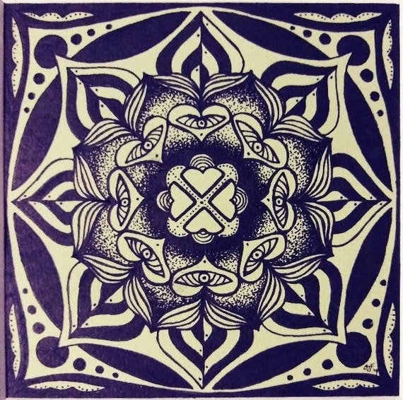 Untitled Small Mandala in Pen and Ink