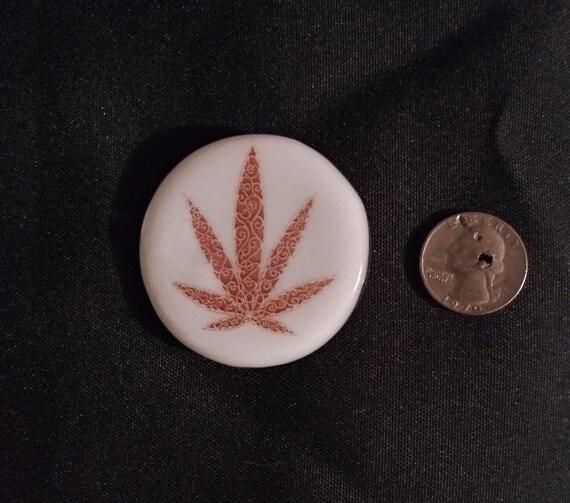 Marijuana Leaf Fused Glass Magnets