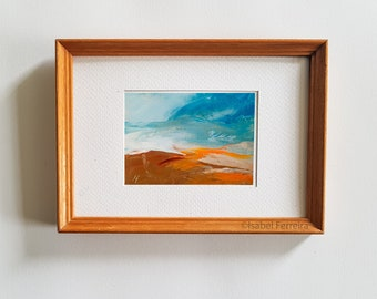 Original oil miniature painting- ACEO art- Landscape 161 Atc original painting- gift idea- affordable art-landscape painting, warm dramatic