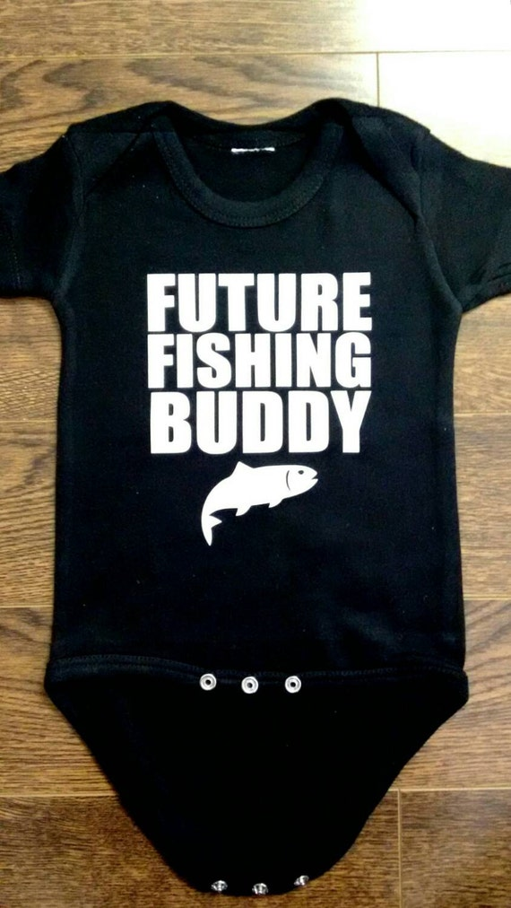 61a977f6323d Future Fishing Buddy Baby Clothes Bodysuit Baby Shower Gift