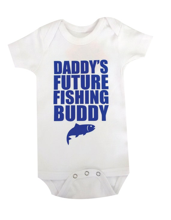 eb9d25bfd2c2 DADDYS Future Fishing Buddy Baby Clothes Bodysuit Baby