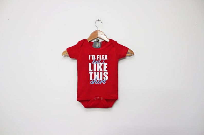bodysuit Cute Baby Clothes Baby tee Newborn gift Id Flex Like This Baby Bodysuit by BabyApparels.etsy.com cute baby Custom Baby Gift