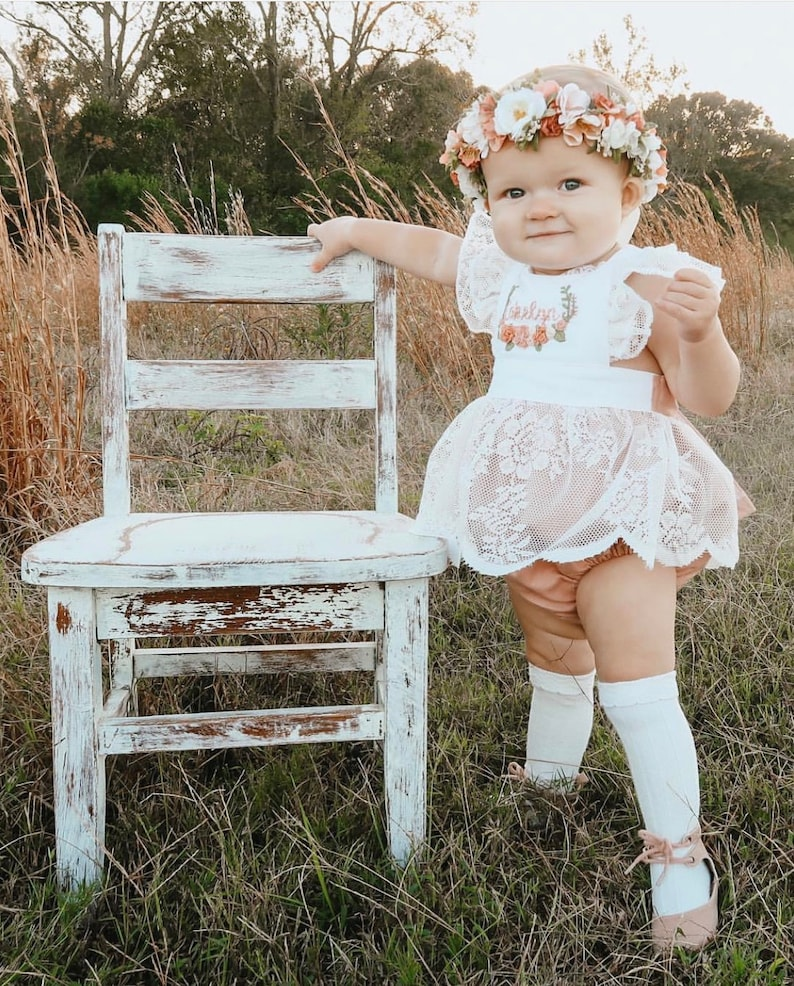fa9299f99d Floral hand embroidered skirted romper