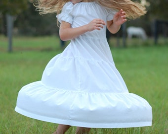 PRICE REDUCED! Girls Plain Peasant Style Tiered Dress {Different sizes and colors available!!!}