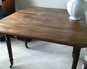 Circa 1880 Pembroke style table 36 x 38 x 20 wide with the leaves down with the leaves open it is 39 will consider offers.