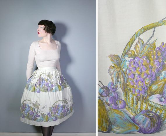 50s FRUIT BASKET full skirt - 1950s full swing NOV
