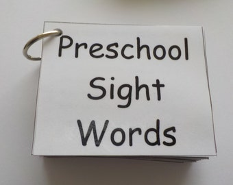 Preschool Sight Word Flash Cards, Ready to Use, Laminated, 76 Sight Words, High Frequency Words, Reading Help, Learn to Read, Flashcards