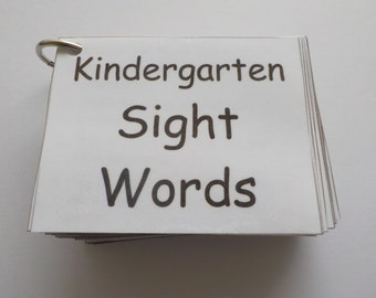 Kindergarten Sight Word Flash Cards, Laminated, Ready To Use,106 Sight Words,High Frequency Words,Learn to Read,Original
