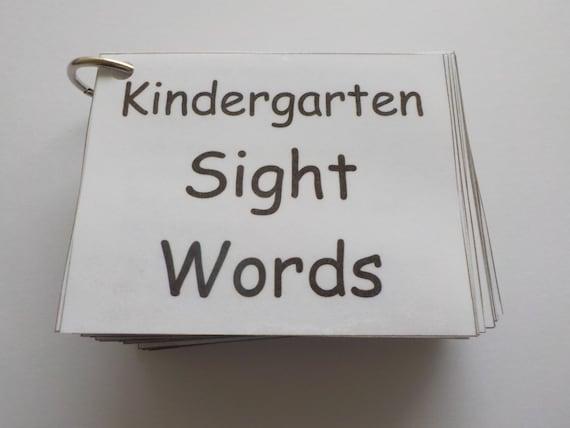 Kindergarten-Anblick-Wort-Flash-Karten laminiert fertig zum | Etsy