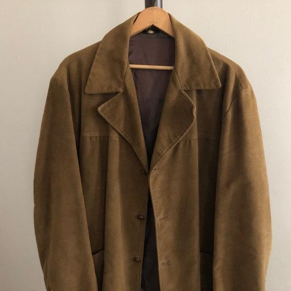 Brown Velvet Blazer Smoking Jacket Vintage Distres