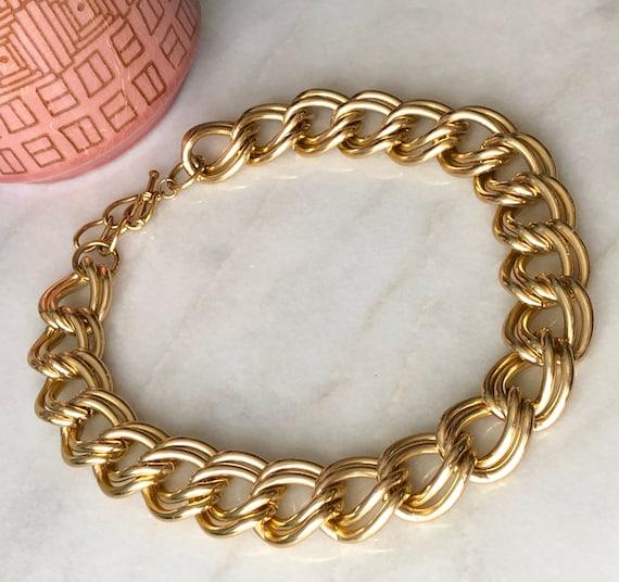 Gold Chain Necklace Metal Chunky Chain Collar Chok