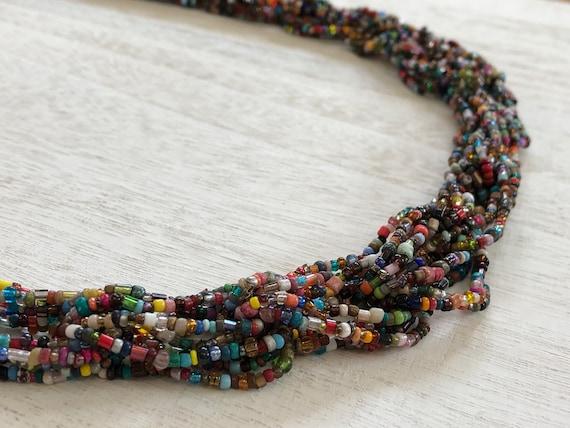 Necklace Vintage Beaded Boho Statement Chunky Jewe