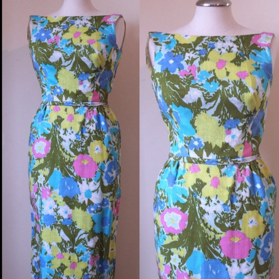 Long Draper Dress with Flowers