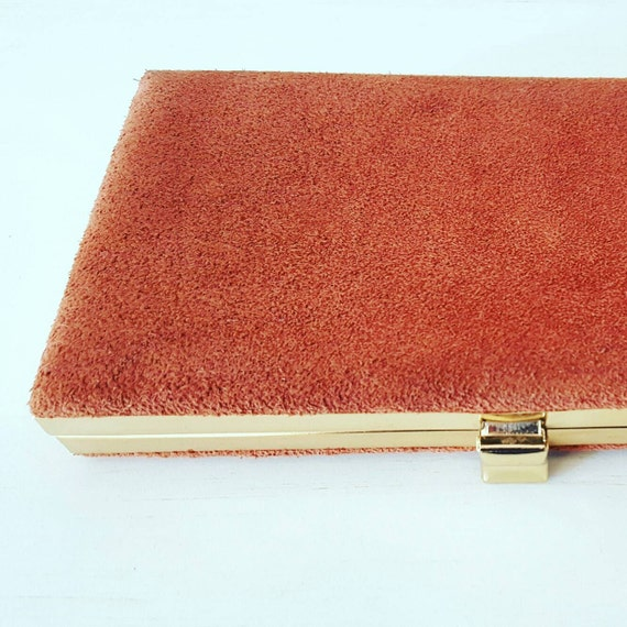 1960's Suede Vintage Cocktail Clutch