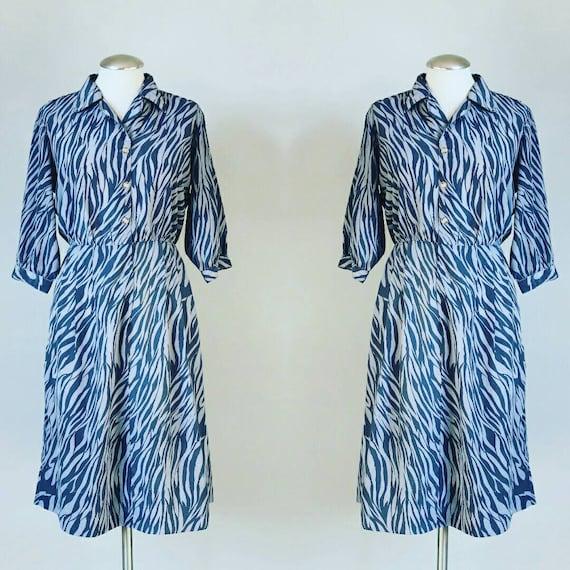 1960's Vintage Gray Dress - M/L