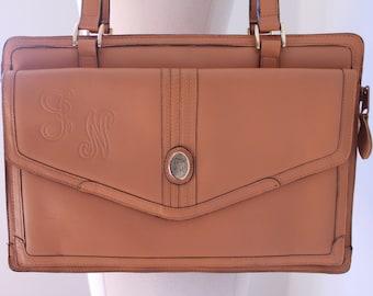 Genuine Tan Leather Handbag