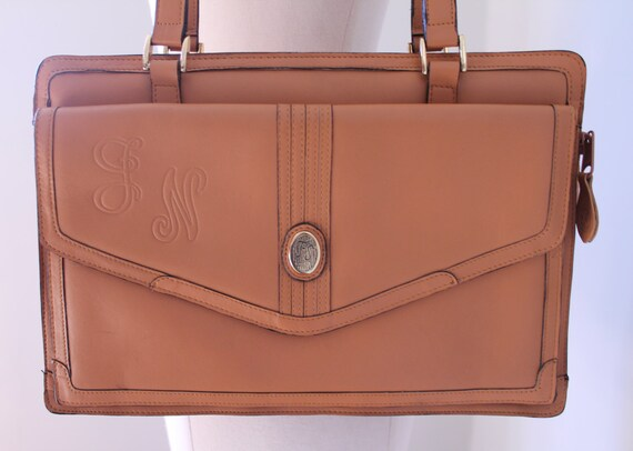 Genuine Tan Leather Handbag