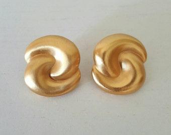 1960's Vintage Golden Earrings