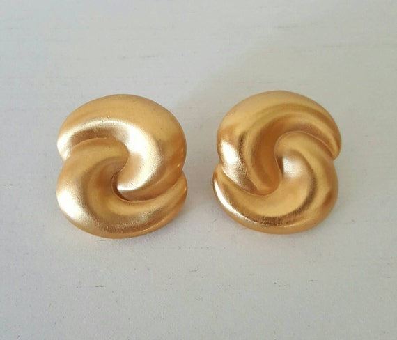 1960's Vintage Golden Earrings