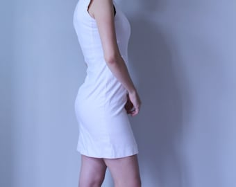White Fitted Dress