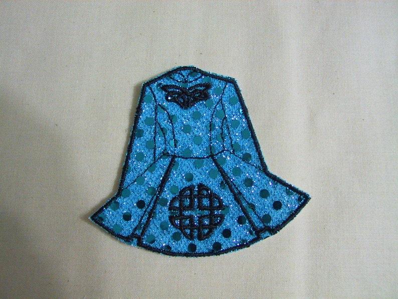 221b734bafe31 Irish dance solo dress 9 machine embroidery applique patch | Etsy