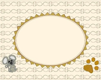 Kitty cat Frame Matte 2018 machine embroidery designs