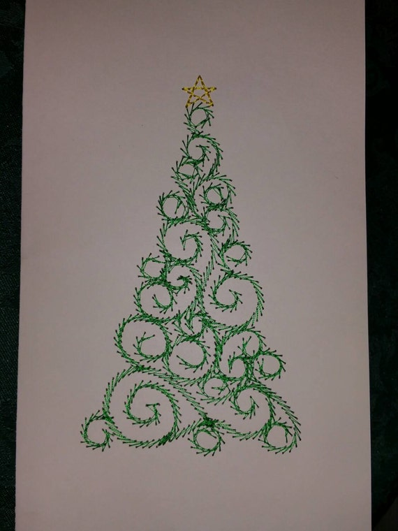 Christmas Cards In The Hoop Machine Embroidery Designs Set Of Etsy