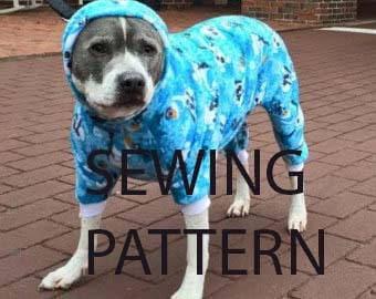 Dog pajama xl pitbull size only  *digital* download SEWING pattern