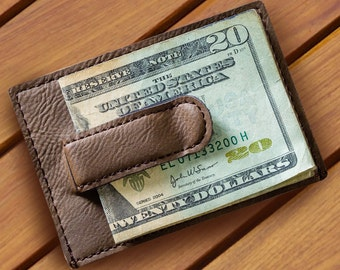 982450c5ef9f0 Groomsmen Suede Money Clip - Personalized Tan Money Clip and Wallet - Wallet  - Money Clip - Gifts for Him - GC1328 DK BROWN