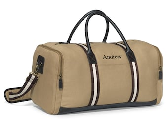 Personalized Canvas Duffel Bag - Personalized Gym bag for Groomsmen Gifts -  Personalized Gym Bag for Him - Gifts for Dad - GC1528 c22efe4e0e