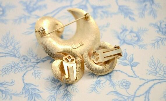ViNTAGE 'Coro' Gold and Fresh Water Pearl Swirl B… - image 2